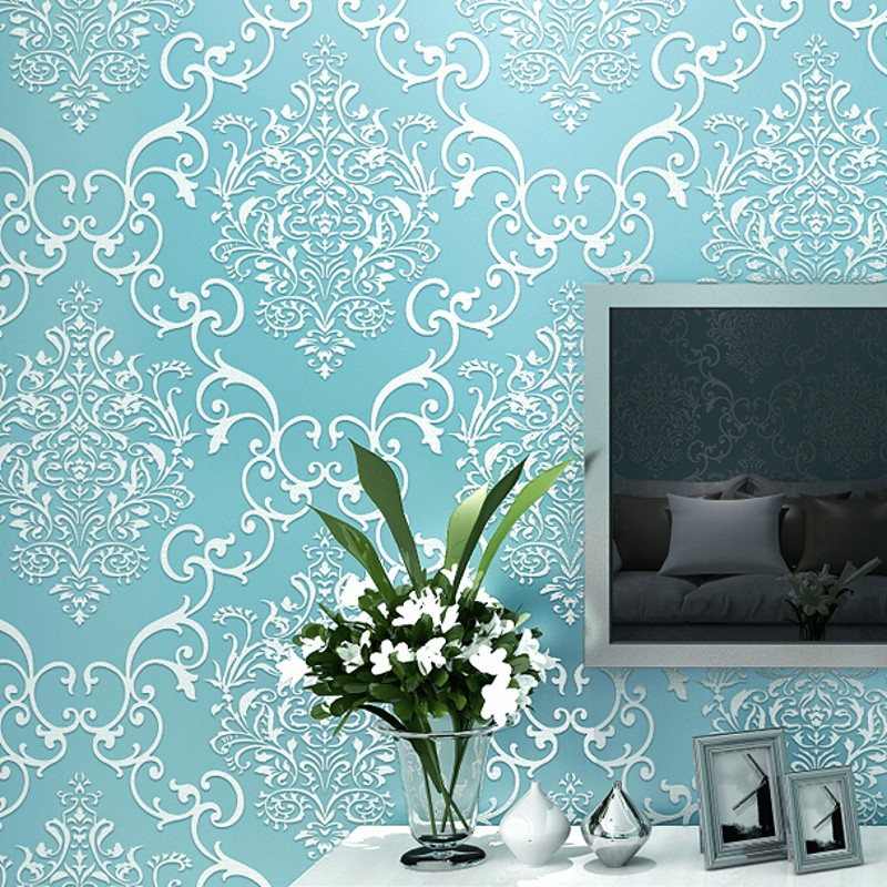 beibehang of wall paper Non-Woven Wallpaper roll Damask contact paper Embossed Wallpaper Roll for Living Room Background classic non woven metallic damask wallpaper roll blue background wall wallpaper for living room bedroom wallpaper w045b papeles