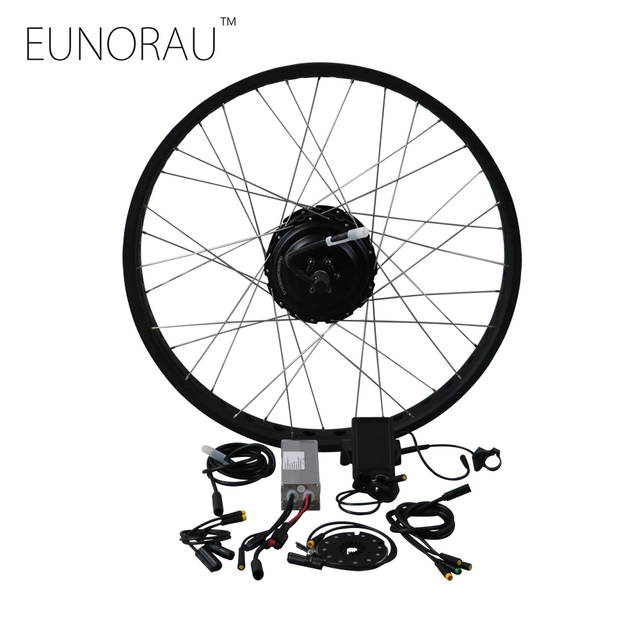 rear fork open size 175mm 48V500W cassette motor with 20'' 26'' rim Electric fat tire bike conversion kit free shipping