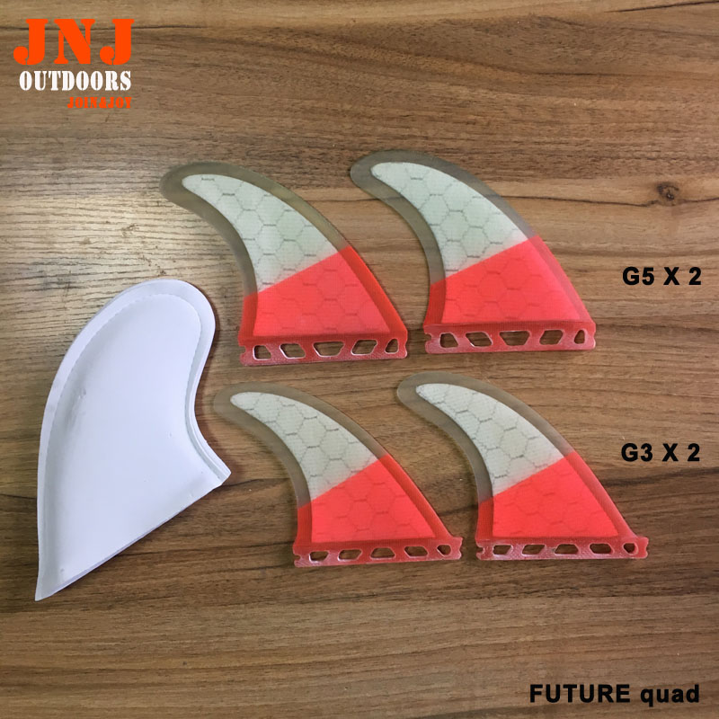 FREE SHIPPING fiberglass surfboard future quad fins 2pcs G5 and 2pcs G3 ecopharmacology and its future forensic implications