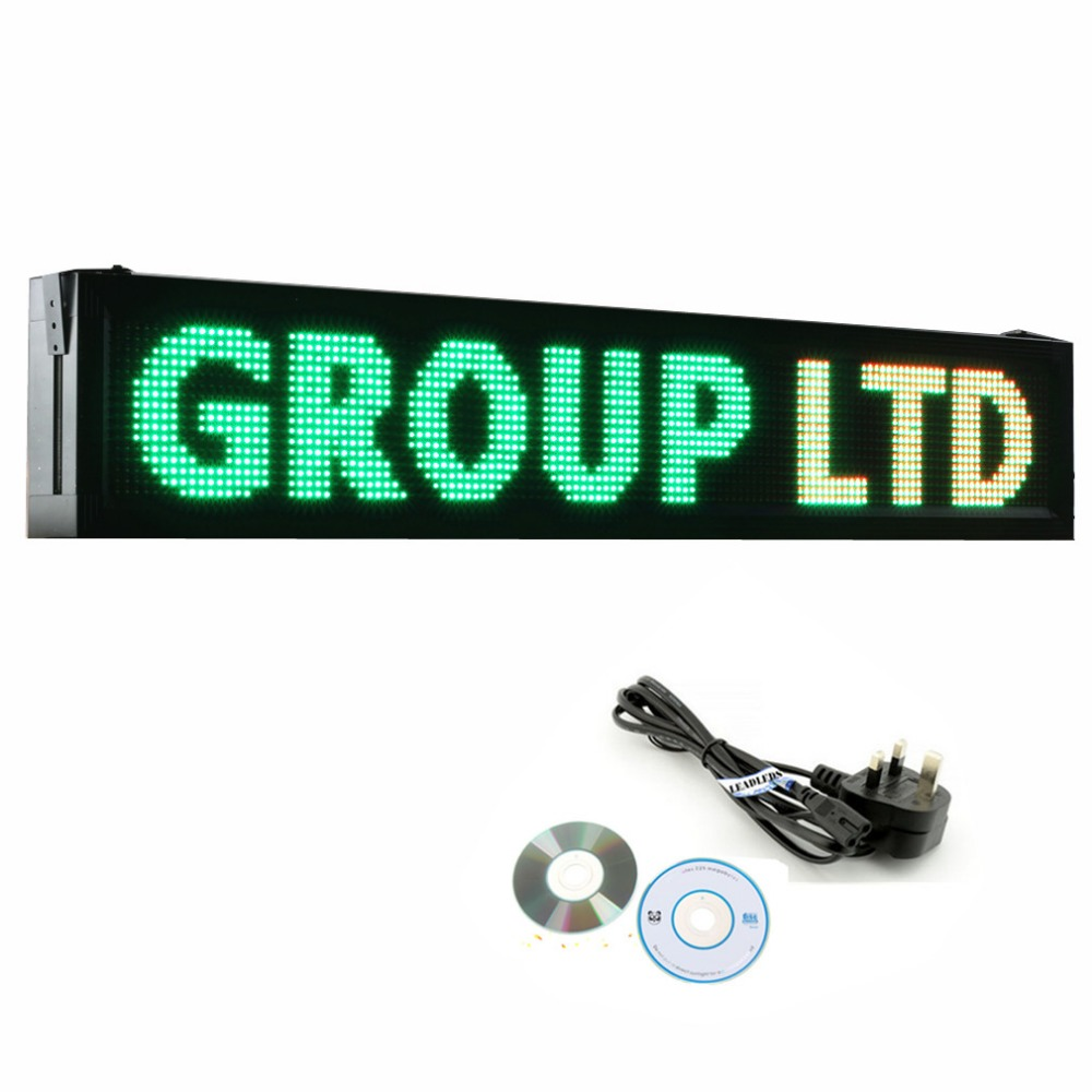 41 X 9.5 inches P10 Outdoor RGY Tri-color LED Sign Board Waterproof Programmable Display Scrolling Advertising Business