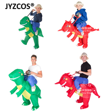 JYZCOS Inflatable Dinosaur Costume Kids Adult Blow Up T Rex Unicorn Cowboy Sumo Wrestler Outfit Cosplay