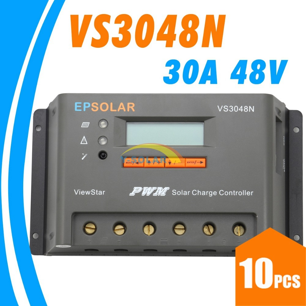 30a 48v Vs3048n Solar Charge Controller Epsolar Bullet Train Educational Diy Kit Panel Charger Battery Light And Timer Control Gel