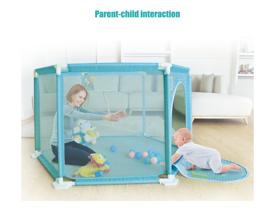 Plastic Baby Playpens With Net Material For 0 To 36 Months Children 3