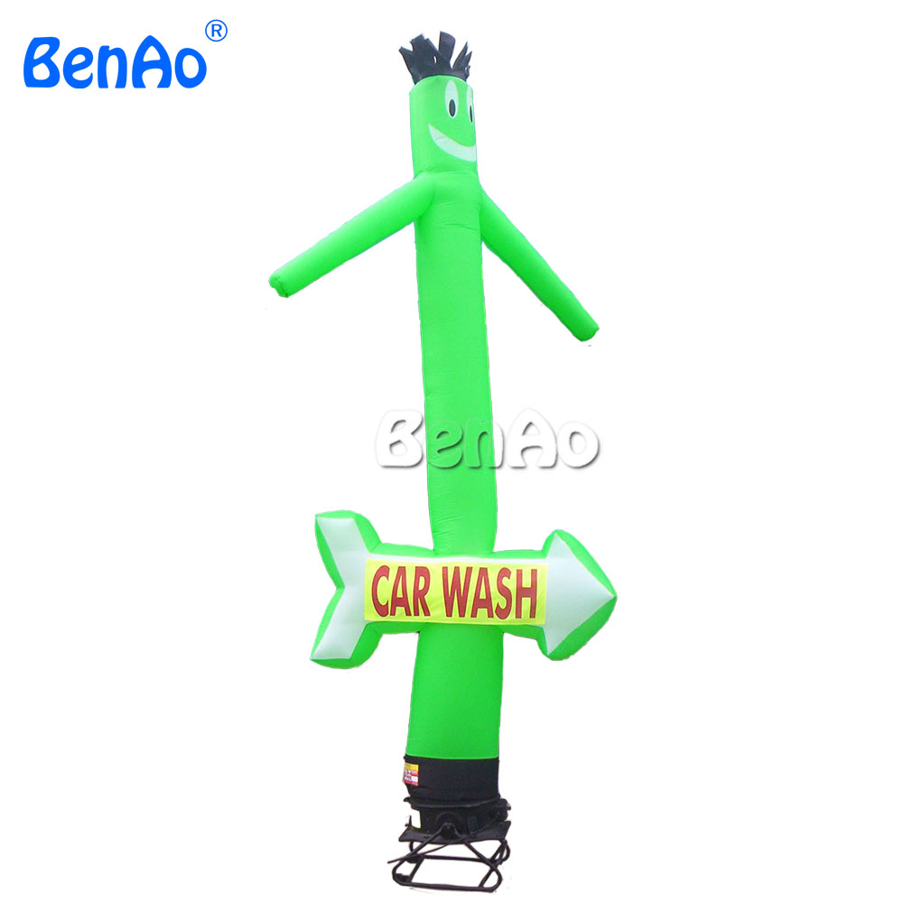 AD060 Free shipping+printing  Arrow green carwash air dancer ,inflatable air dancer/green arrow carwash open sky air dancer цена и фото