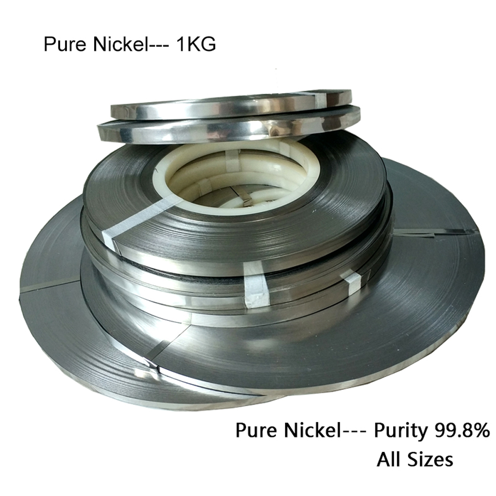 1.0kg Pure Nickel Strip All Size Pure Nickel Sheet Spot Welding For 18650 Battery Pack Of Lithium Battery 99.8%pure Nickel Plate