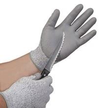 Горячая Распродажа CE сертифицированные EN388 EN420 ПУ Перчатки для безопасности работы HPPE Механика Рабочая перчатка устойчивость к порезам, уровень 5 Анти резные рабочие перчатки