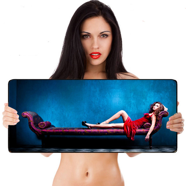 Ultra Thick 3mm Soft Rubber Sexy Girl Gamer Gaming Mouse Pad Laptop Keyboard Mat Free Shipping