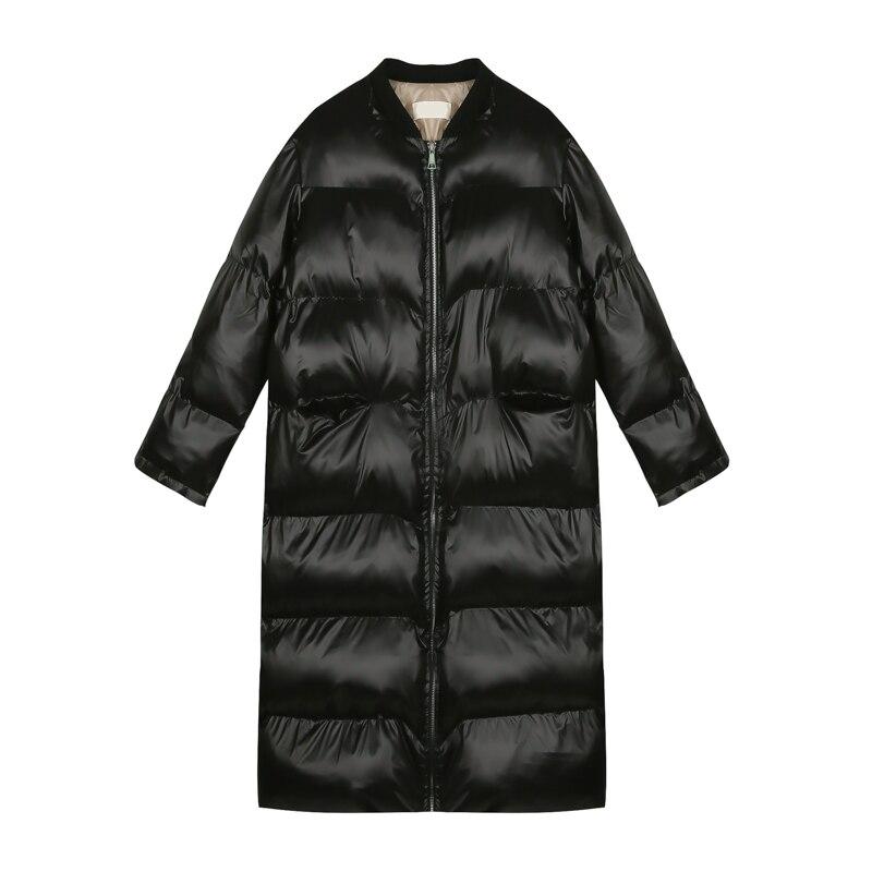 Sustans Surdimensionné Femme Rembourré Mode 2019 Veste De Manteaux Coton Pain Brillant Hiver Noir Parka Femmes Outwear Nouveau by7Yf6Imgv