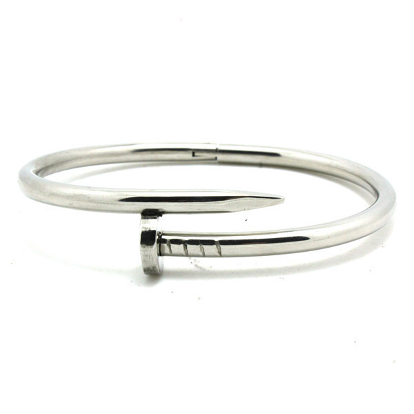 Female Girls Hot Selling Cool Iron Nail Bracelet 316L Stainless ...