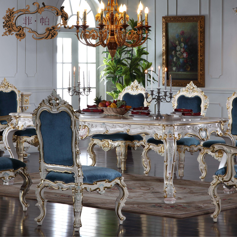 buy italian french antique furniture all silver foil royalty classic dining. Black Bedroom Furniture Sets. Home Design Ideas
