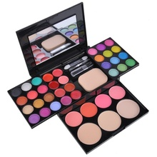 39 Colors Eye Shadow Makeup Palette Kit Foundation Blusher Cosmetic Lipstick Tools KG66 цены онлайн