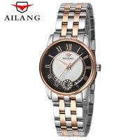 Vender Reloj de cuarzo clásico dorado y plateado para mujer, reloj elegante para mujer, reloj de lujo con diamantes, reloj de pulsera impermeable para mujer