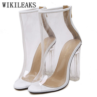 Jelly Shoes Gladiator Sandals Women Designer Luxury Brand Sexy Extreme High Heel Sandals Crystal Heel Summer