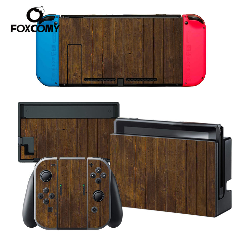 Wood Leopard print Custom Vinyl Console Cover For Nintend Switch Skin Stickers Controller Protective For NS Switch