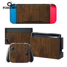 Wood Leopard print Custom Vinyl Console Cover For Nintend Switch Skin Stickers Controller Protective NS