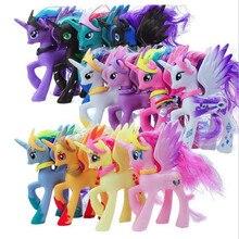 14 см My little pony Симпатичные ПВХ Единорог ПВХ маленькая пони лошадь фигурки Куклы для девочек на день рождения Рождественский подарок