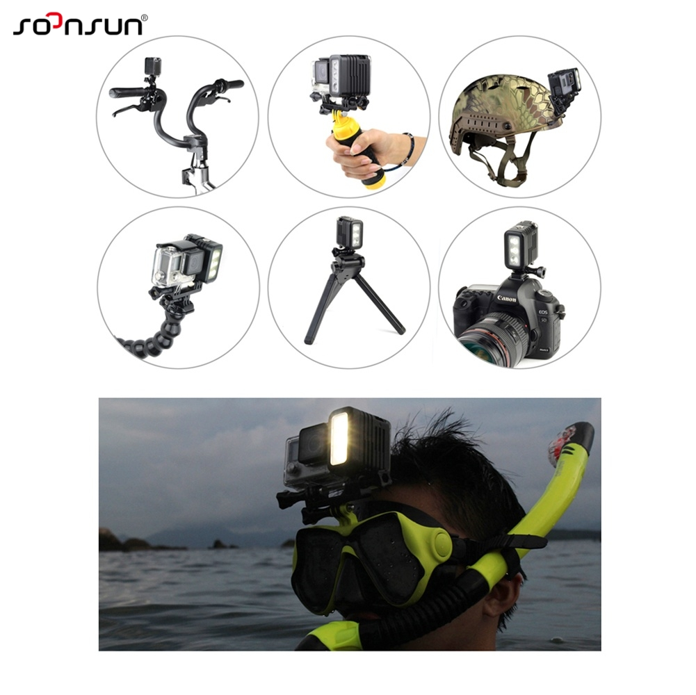 Image 5 - SOONSUN 50M Waterproof Underwater Diving LED Light w/ AHDBT 401 Dual Battery Spot Lamp for GoPro HERO 3 4 5 6 7 Go Pro Accessory-in Sports Camcorder Cases from Consumer Electronics