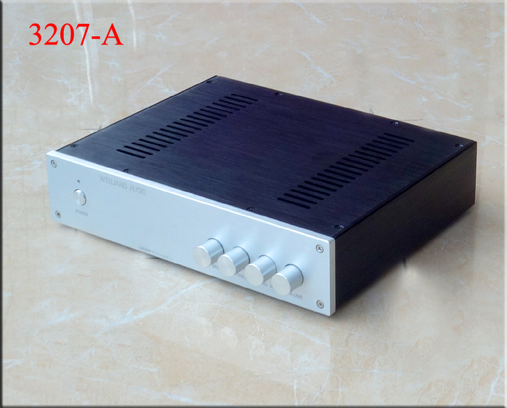 BZ3207A silver full Aluminum Preamplifier enclosure amplifier chassis AMP box 320mm 70mm 248mm