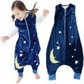 Retail 2016 Spring Baby Sleeping Bag Cartoon Animal Star Pattern Warm Winter Newborn Jumpsuit Sleeping Bag Flannel Kids Products