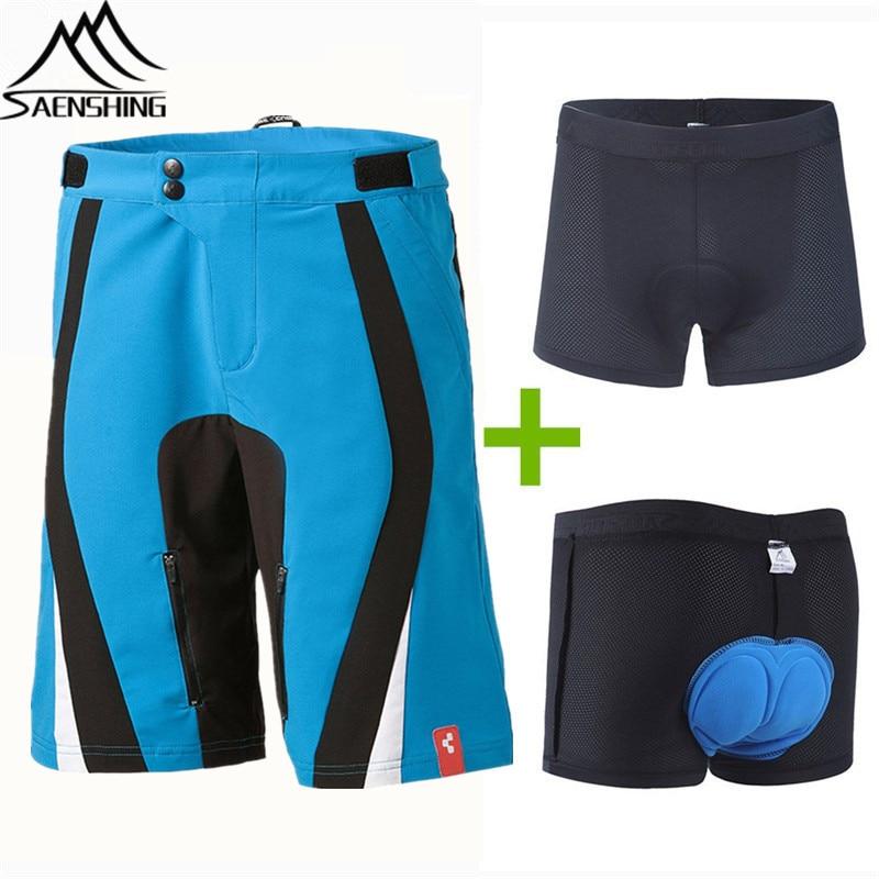 все цены на Saenshing Cube Shorts Men MTB Cycling Shorts Downhill Cube Bike Short vtt 3D Padded Breathable Cycling Underwear S-XXL Short онлайн