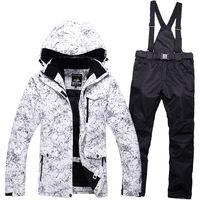 Snow Jackets Couple Woman Man Ski Suit Set Jackets And Pants Single Skiing Set Windproof Waterproof