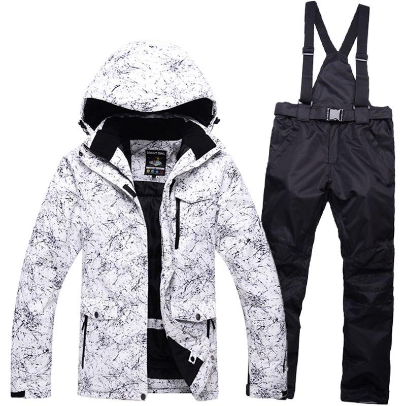 snow jackets Couple woman man font b ski b font suit set jackets and pants single