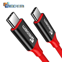 Tiegem Fast Charging USB 2.0 Type C Cable USB C To C Charging and Sync Cable, Standard , USB-C 3.3ft Cable for New MacBook