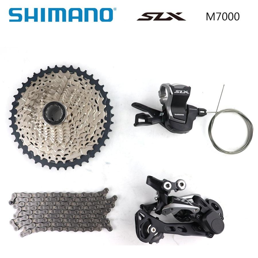 Shimano SLX M7000 4pcs Groupset 11-42T 11-46T Cassette Derailleur Shifter Chain