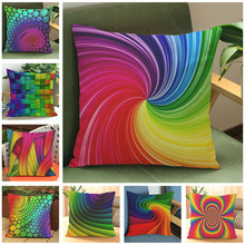 CV Cushion Cover with/without inner fill, Colorful Geometric Pillow Modern Cushion 45*45cm