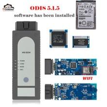 VAS 6154 ODIS V5.1.5 OKI полный чип VAS6154 Wi-Fi для Audi/Skoda лучше, чем VAS5054 с HDD ODIS установленная Поддержка UDS