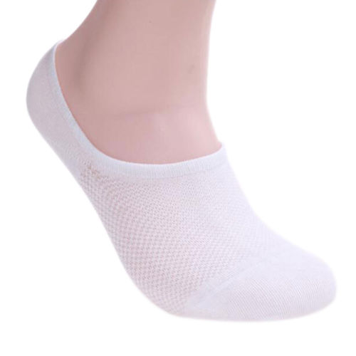 1 Pair Silicone Men's Slipper Sock Fashion Summer Style Invisible Socks Cotton Solid Healthy and comfortable breathable
