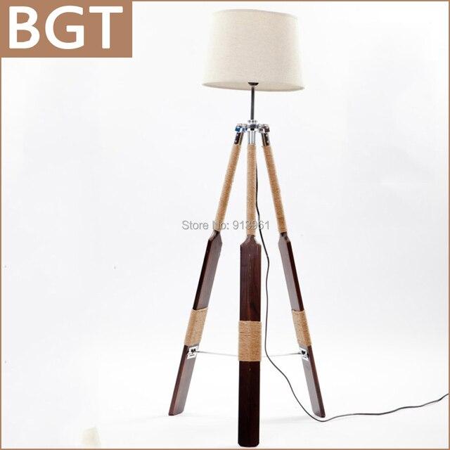 Date rétro lampadaire trépied bois Standard lampe pour salon et ...