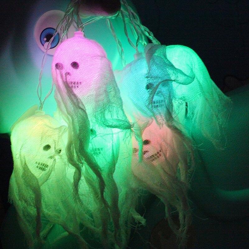 LED Decoration Lights String Colored Spooky Skull Lights Halloween Party Decoration DAG-ship