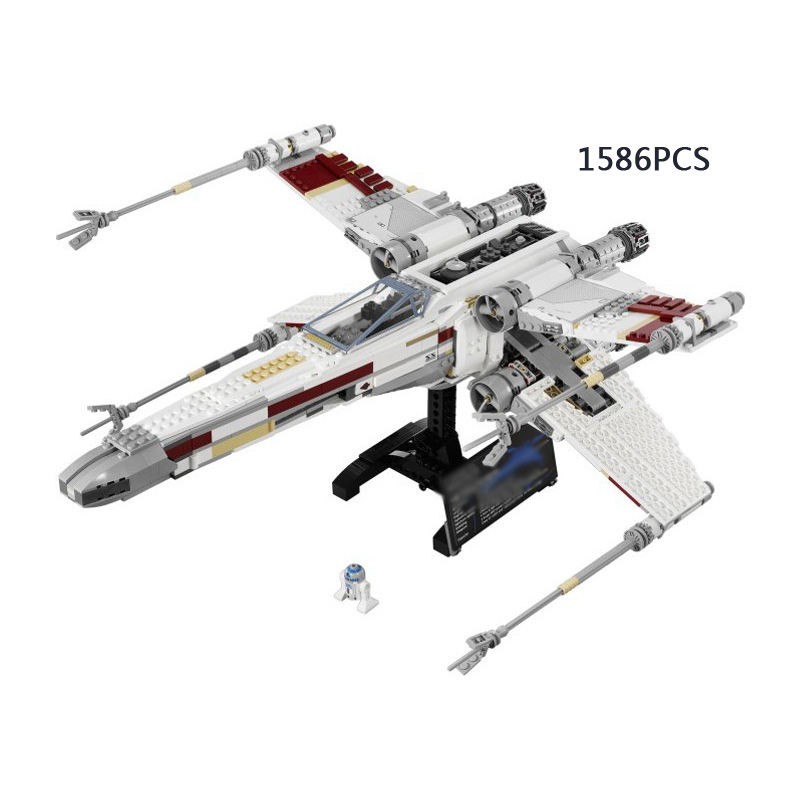 1586PCS Star Space Wars Red Five X-Wing Starfighter Building Block R2-D2 Robto Bricks Compatible 10240 Toy for Kids Gifts