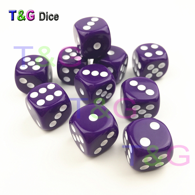 16mm Color D6 of 10pcs Set Clear Standard Dot 6 Sided Dice Cube for  Entertainment  Board Games  Christmas Party Gift ed130e40cc3f