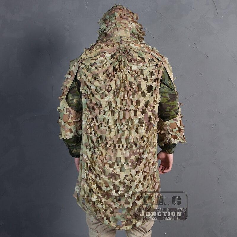 Emerson tactique assaut Ghillie costume 3D léger Camouflage peinture Jungle bois observation des oiseaux Poncho vêtements de chasse