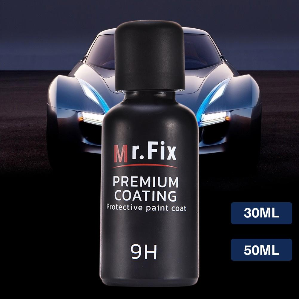 Mr. Fix Upgraded ceramic coat 9H Car Polish Liquid Crystal Set High Density Car Super hydrophobic glass coating 30ML 50ML ...