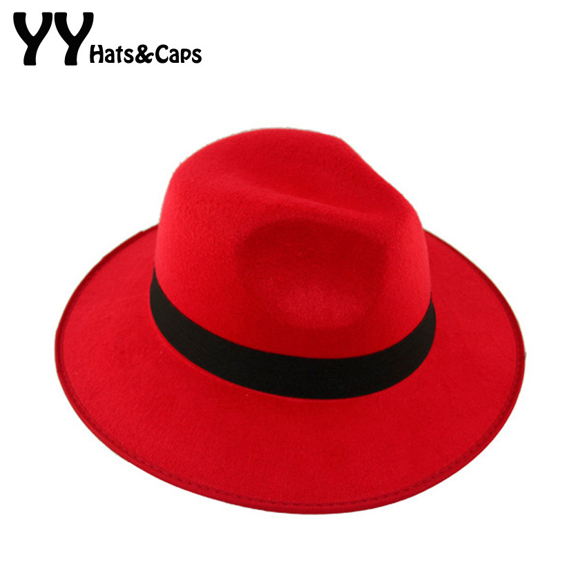 d24acfbbf99 Soft Men Women Vintage Retro Wide Brim Wool Felt Bowler Fedora Hat Floppy  Cloche Solid Trilby Hats Winter Jazz Cap YY0728