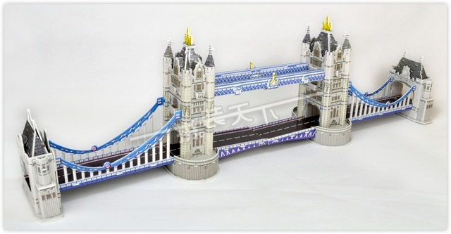 Educational toy hot sale London Bridge 3d jigsaw puzzle assembly model paper famous building game creative children gift 1 pc