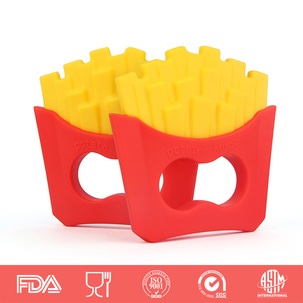 Baby Teethers Baby Teether Fries Shaped Pacifier Food Grade Silicone Teething Nursing Massage Dental Care