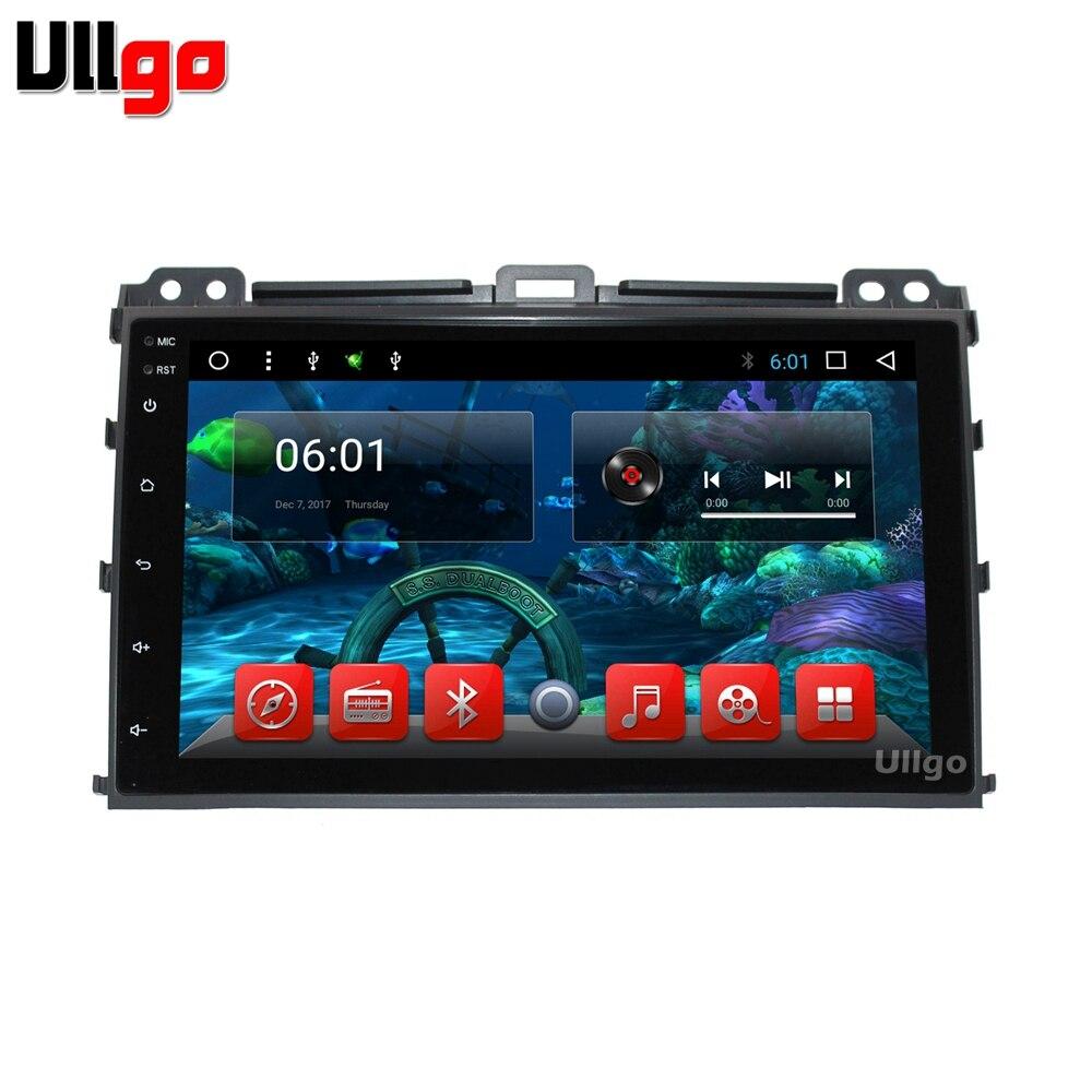 Android 7.1 Voiture DVD GPS pour Toyota Land Cruiser Prado 120 2002-2009 avec Bluetooth Radio RDS Wifi Mirro -lien Livraison 8 gb Carte Carte