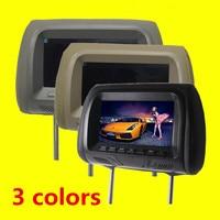 1PCs Universal 7 Inch Car Headrest Monitor Display LCD Color Monitor Display Car Pillow Monitor Car