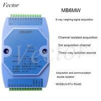 Módulo de Aquisição de pesagem 6-way 485 Transmissor Protocolo Modbus RTU