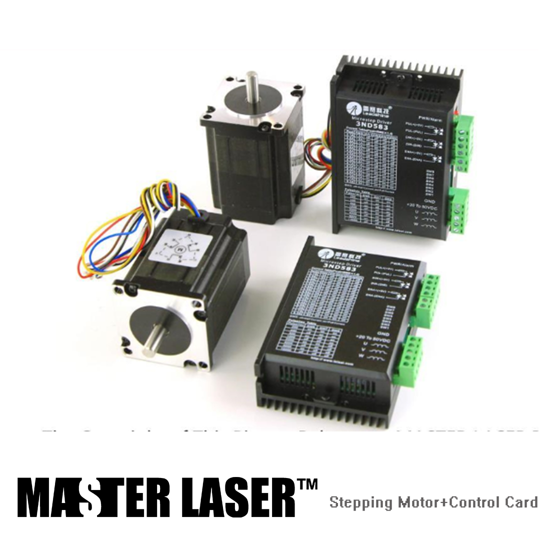 цена Leadshine Stepping Motor 42HS02 and Motor Driver DM422C for Laser Engraving/Cutting Machine Stepper Motor