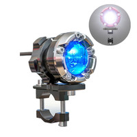 SPIRIT BEAST Motorcycle Aluminum Headlight Bulbs Waterproof LED 10W Spotlights MOTO Light Decorative Accessories