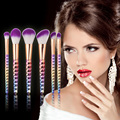 6 pcs Sobrancelha Delineador Lip Brush Tool Cosméticos Pincéis de Maquiagem Olhos Colméia Lidar Profissional Fundação Blush Poder