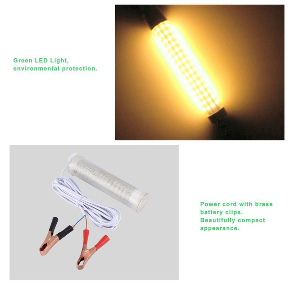 104PCS LED Underwater Submersible Night Fishing Light Tackle Water Crappie Shad Squid For Boat Docks Piers 25W LED Lamp Hot Sale