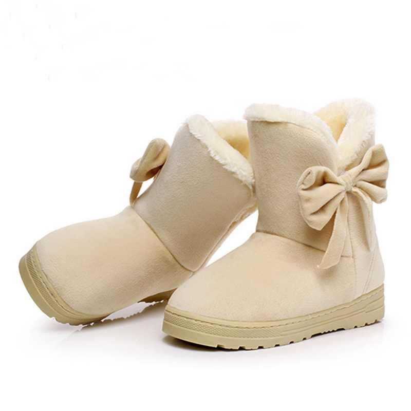 2019 frauen Schnee Stiefel Nette Bowtie Warme Mode Schnee stiefel frauen winter schuhe schmetterling dropshipping fabrik Billig