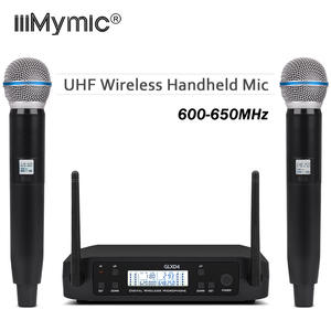 UHF GLXD4 BETA58 Karaoke Handheld Bodypack Wireless Microphone 2 Channel Frequency Adjustable Professional System For Church KTV
