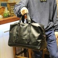 High Quality PU Leather Men Travel Bag